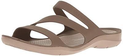 Crocs Women's Swiftwater Sandal Sport, Walnut, 5 M US