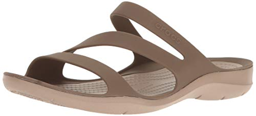 Crocs Women's Swiftwater Sandal, Walnut, 10 M US