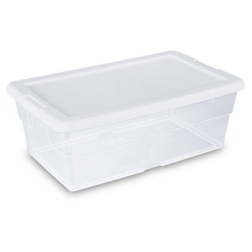 "Sterilite Storage Box 13.5"" X 8.3"" X 4.8"", 6 Qt. Clear"