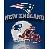 NFL Officially Licensed Gridiron Series Fleece Throw Blanket (New England Patriots)