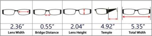 de Montura Acero 39 de Mujer Sol Inoxidable para y Polarizadas de Lente Negra y CR Gafas Montura Eyekepper Hombre de U5qBA