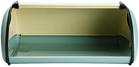 JVSISM Bandeja de Pan Retro Resumen Bandeja de Almacenamiento Superior Azul Claro Peque?O Pan de Hierro Recubierto de Polvo Caja de Aperitivos Cocina Contenedor de Alimentos