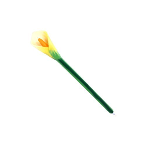xonex-calla-lily-flower-ballpoint-single-pen-10737-in-our-choice-of-purple-white-or-yellow