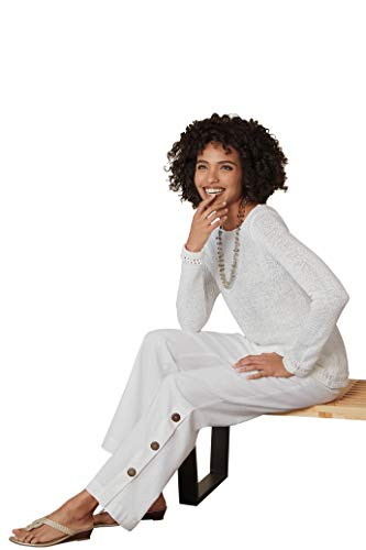 Chadwicks Open-Weave Sweater White