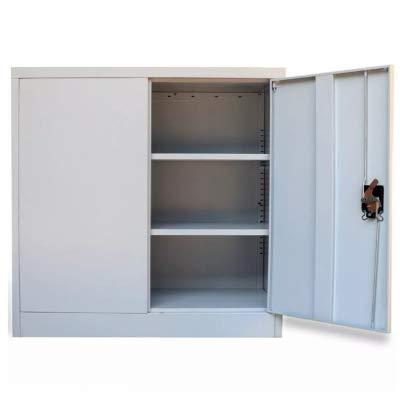 Famirosa vidaXL Mueble de Oficina con 2 Puertas Acero de Metal de Color Gris 90 x 40 x 90 cm, Armario Archivador de Oficina Metálico: Amazon.es: Hogar