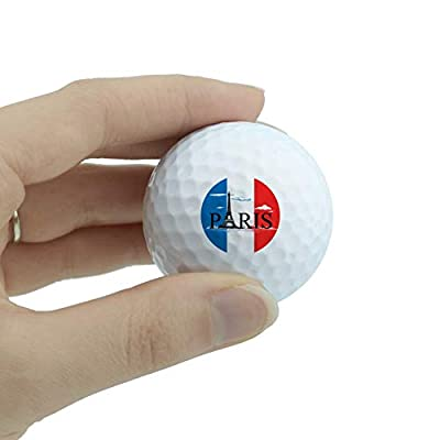 GRAPHICS & MORE Paris France Eiffel Tower Flag Clouds Novelty Golf Balls 3 Pack from GRAPHICS & MORE