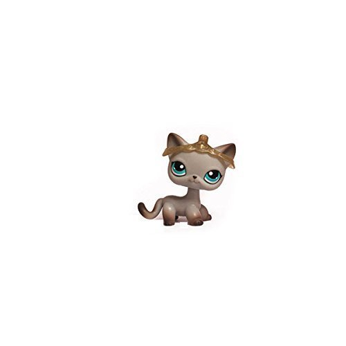 Littlest Pet Shop Around The World Siamese Cat Kitten Kitty # 391 (Gray With Blue Eyes) - LPS Loose Figures - Replacement Pets - LPS Collector Toy (Out Of Package/OOP)