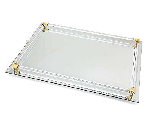 (Mirrored Serving Tray Size  Large,12