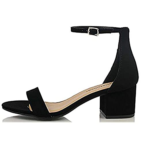 a6efc64ad378 cheap City Classified Comfort Womens Block Heel Dress Sandal Open Toe Ankle  Strap Heeled Sandals