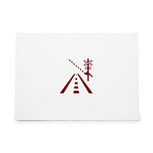 Railroad Street Sign (Railroad Crossing Train Street Sign Style 17457, Rubber Stamp Shape great for Scrapbooking, Crafts, Card Making, Ink Stamping Crafts)