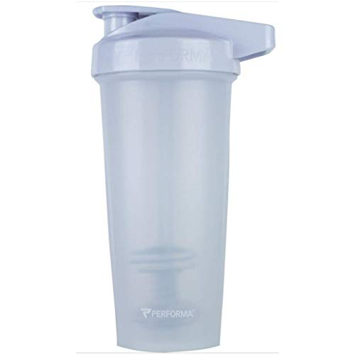 PerfectShaker Performa - ACTIV Shaker Bottle, Best Leak Free Bottle with Actionrod Mixing Technology for Your Sports & Fitness Needs! Dishwasher and Shatter Proof (ACTIV White)