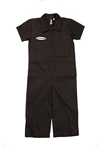 Born to Love Knuckleheads - Infant and Baby Boy Grease Monkey Coveralls Black 2T