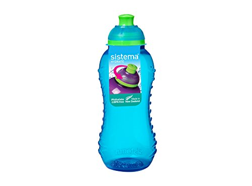 - Sistema 780C6 Twist 'N' Sip Collection Water bottle, 11 Ounce, Blue/Pink/Green