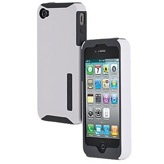Incipio SILICRYLIC Hard Cover Case for iPhone 4/4S - White Shell & Grey Silicone - Fits Verizon/AT&T iPhone 4s White Hard Case