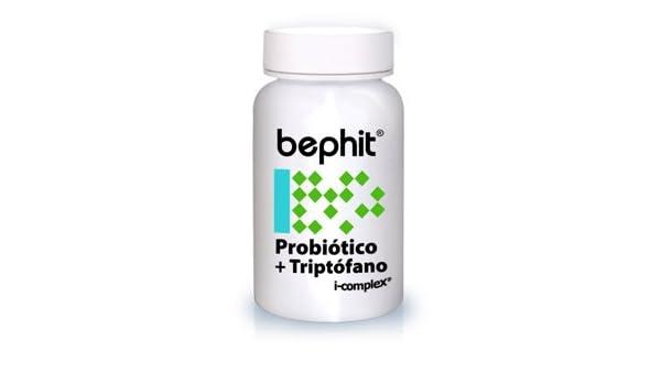 PROBIÓTICO + TRIPTÓFANO + L-GLUTAMINA BEPHIT - 60 cápsulas 750 mg: Amazon.es: Salud y cuidado personal