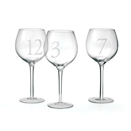 Set of 12 Numbered Wine Glass from Unknown