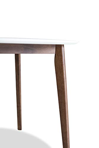 Edloe Finch Dakota Mid-Century Modern 5 Piece Round Dining Table Set for 4, White Top by Edloe Finch (Image #11)