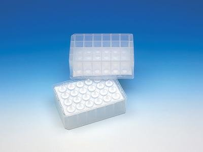 GE Bio-Sciences 7700-9901 Unfiltered Filtration Microplate, 24 Well, 10 mL Volume, G/C, Long Drip Director, Natural Polypropylene (Pack of 25)