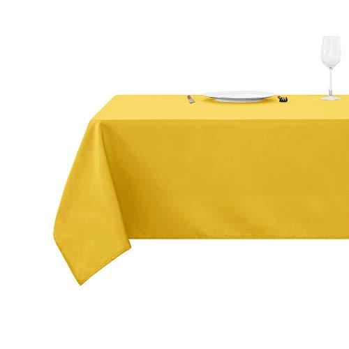 Deconovo Manteles Mesa Rectangular Oxford para Cocina 150 x 240 cm Amarillo