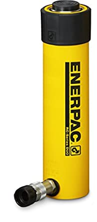 """Enerpac RC-256 Single-Acting Alloy Steel Hydraulic Cylinder with 25 Ton Capacity, Single Port, 6.25"""" Stroke"""