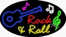15 x 27 x 1 inches Rock /& Roll2 LED Sign Made in USA