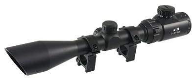 Aim Sports 3-9X40 Blue/Green III. Scope with Cut Sunshade/Rangefinder by AIM SPORTS