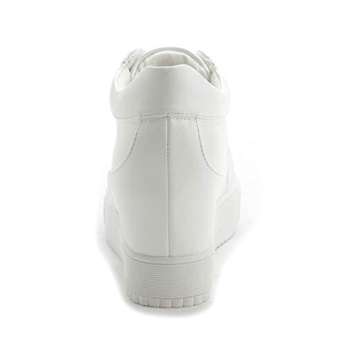 Escarpins Mailles Cuir En Rond Fendu Plateforme À Dentelle Sneakers Femme Bout Jrenok Blanc Mocassins Pour dhtQrs