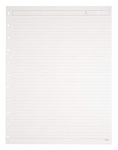 Ruled White Refill - TUL Custom Note-Taking System Discbound Refill Pages, 81/2