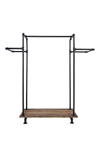 Newtech Display IND-R3/BLK H-Rack with Wood Base/BLK