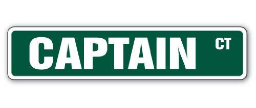CAPTAIN Street Sign boss sail boat ship signs