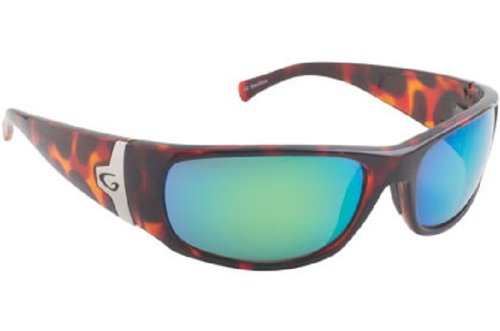 Guideline Eyegear Rio Sunglass, Shiny Tortoise Frame, Freestone Brown Polarized Lens, Inshore Green Mirror, - Sunglasses Guidelines