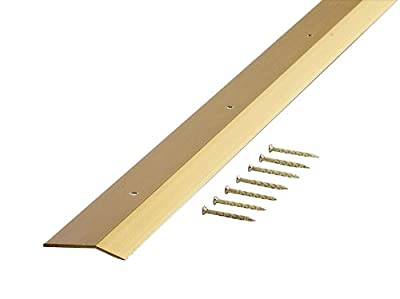M-D Building Products 72066 Extra Wide Smooth 2-Inch by 36-Inch Carpet Trim, Satin Brass