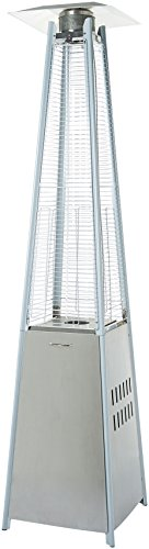 AmazonBasics Outdoor Pyramid Patio Heater, Stainless Steel (Best Outdoor Patio Heater)