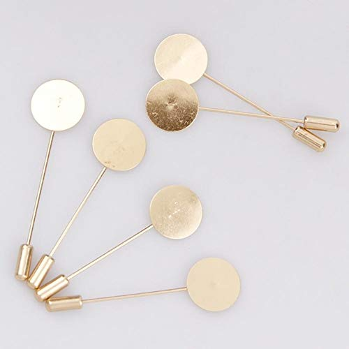 Laliva Factory Luxury Gold & Silver Plated Simulated Pearl Alloy Copper Long Brooch Pin DIY Lapel Dress Jewelry Brooches Accessories - (Color: Gold 60x20mm) ()