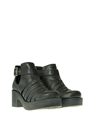 Vestir Zapatos Mujer para Negro Negro de de Piel Smith Windsor qa76wRpw