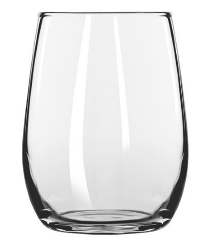(Libbey Stemless 6 Ounce Wine Taster / Mini / Sample Glass 260, Set of 6 w/ FDL Party Picks)