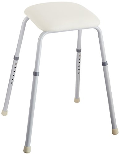 Sammons Preston Perching Stool, Adjustable Angled Seat for Rest and Support, Tall Chair with Comfortable Padding for Perching, Standing Assistance Stool with Padded Seat and Epoxy Coated Legs