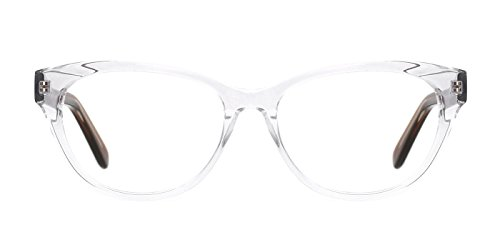 TIJN Super Inspired Mod Fashion Cat Eye Glasses Translucent Eyewear Frame (Buy Prescription Glasses Online)