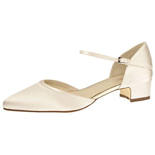 Marfil Marfil Blanco Satén Shoes de Hueso de Zapatos Elsa Hueso Mujer para Vestir Coloured Blanco gwq65vP