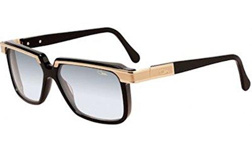 Cazal Legends 650 001SG Shiny Black/Gold Square Full Rim Sunglasses 58MM