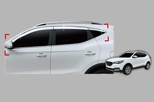 Autoclover Chrome Wind Deflectors Set for MG ZS 2017+ 6 pieces