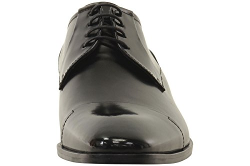 HUGO by Hugo Boss Men's Square Business Matte Leather Lace up Derby Work Shoe, Black, 11 N US by Hugo Boss (Image #1)