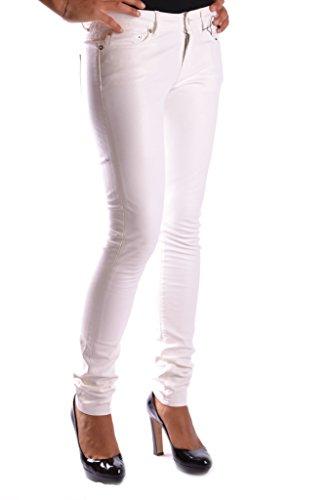 Saint MCBI264005O Coton Laurent Femme Jeans Blanc A0vArUq