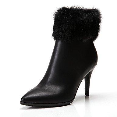 UK6 Synthetic 5 Leather Fashion Spring EU39 Toe Ankle Pointed Stiletto Heel Winter Pu Fur Women'S CN40 Boots RTRY Shoes 5 Booties US8 Boots Feather Microfiber Boots wv8n0gf1Iq