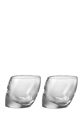 Nambe Tilt Double Old Fashion Glasses, 10-Ounce, Set of 2