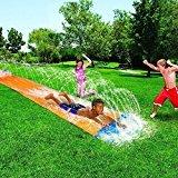Banzai 16 Foot Wild Ride Lawn Water Slide and Kids Sprinkler