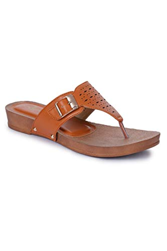 Liberty Senorita D1-22-E-TAN Ladies Casual Slippers