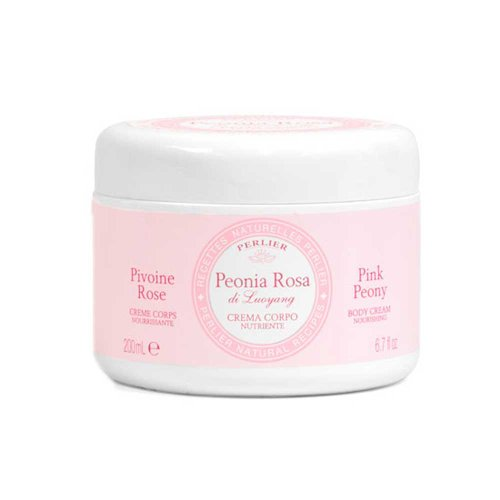 Perlier Pink Peony Nourishing Body Cream Jar 6.7 oz