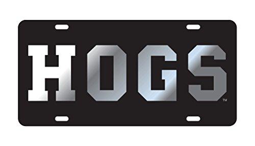 Arkansas Razorbacks Black Mirrored HOGS Tag