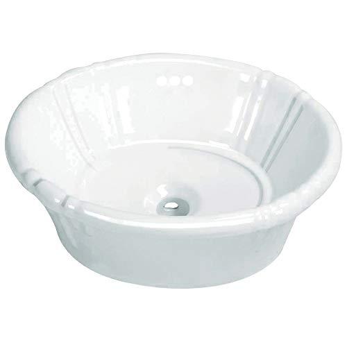 """Kingston Brass EV18157 Vintage Vitreous China Single Bowl Drop-In Lavatory Sink, 17-11/16"""" (L) x 14-3/8"""" (W) x 7"""" (H), White"""